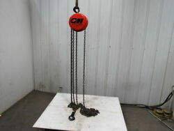Cm Cyclone Model S 1 Ton Manual Chain Fall Hoist 19' Lift W/load Limiter Tested