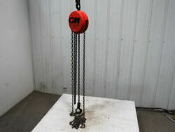 Cm Cyclone Model S 1 Ton Manual Chain Fall Hoist 10and039 Lift W/load Limiter Tested