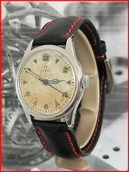 Rare Omega Wwii Military Ck 2384 Cal. 30t2 Scpc Sweep Second 35.5mm Steel Watch