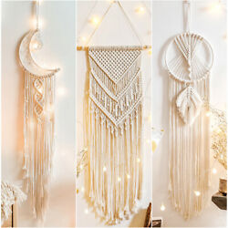 Cotton Handmade Macrame Woven Wall Hanging Tapestry Bohemian Boho Home Art Decor