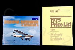 Cessna 1975 Factory Oem 172 Skyhawk Ii Color Brochure And Price List 10 Pages Gift