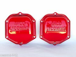 Avco Lycoming Oem Factory Red Powder Coat - 0-320 Engine Rocker Valve Cover 2