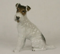 Rosenthal GERMANY Porcelain Figurine #1243 WIRE HAIRED TERRIER DOG  M.H. Fritz