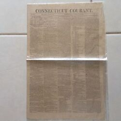 Connecticut Courant Newspaper. Hartford August 2, 1815