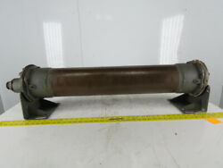 Copper Shell And Tube Heat Exchanger 6x32 2 Ports