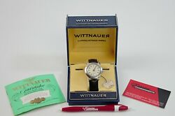 Vintage Wittnauer Alarm 1950and039s Cal.10wa Stainless Steel Menand039s Watch