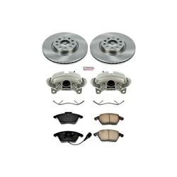 Kcoe2259a Powerstop 2-wheel Set Brake Disc And Caliper Kits Front For Vw Beetle