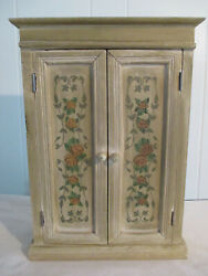 Vintage Wooden Freestanding Wall Box Utility Cabinet Hanging Wall Box Spice Rack