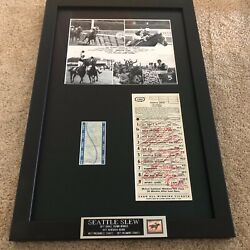 Seattle Slew 1977 Belmont Autographed Andnbspracing Program Uncashed Tote Photo