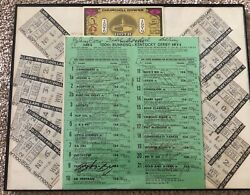 1974 Kentucky Derby 100th Running Autographed Program And Complete Set Of Totesandnbsp