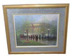 G. Harvey Pillars Of Strength Print Lincoln Memorial Signed Numbered 691 Of 4500