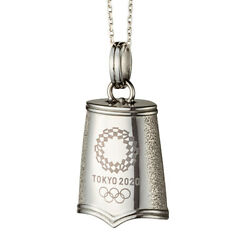 Tokyo Olympics 2020 Olympic Games Emblem Eternity Bell Pendant Official Licensed