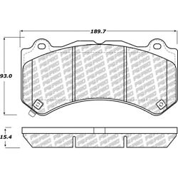 500.14051 Centric 2-wheel Set Brake Pad Sets Front New For Jeep Grand Cherokee
