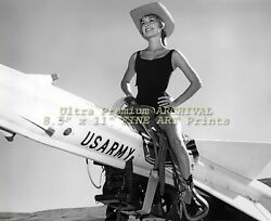 Sharon Tate On A Nike Missile 1961 Professional Archival Photo 8.5 X 11