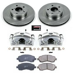 Kcoe445 Powerstop Brake Disc And Caliper Kits 2-wheel Set Front For Legacy 97-00