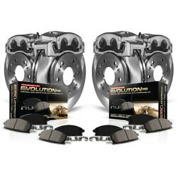 Kcoe4065 Powerstop Brake Disc And Caliper Kits 4-wheel Set Front And Rear For Audi