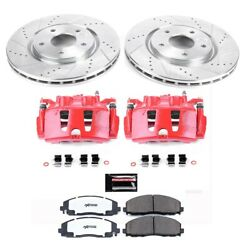 Kc5959-36 Powerstop Brake Disc And Caliper Kits 2-wheel Set Front New For Vw