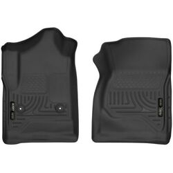 52741 Husky Liners Floor Mats Front New Black For Chevy Chevrolet Silverado 1500
