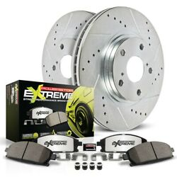 K4554-26 Powerstop Brake Disc And Pad Kits 2-wheel Set Front New For Vw Touareg