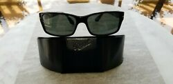 Used New Persol 2803 S Black Dark Green Crystal Lens Polarized 58MM Retail $282 $145.00