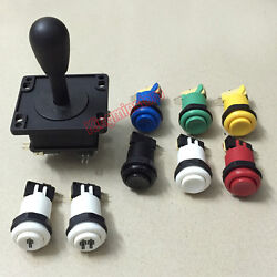 Happ Style Joystick And 8 Happ Buttons For Arcade Jamma Mame Diy Kit Parts