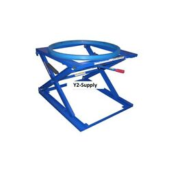 New Pallet And Skid Carousel Turntable Rotating Ring With Stand 4000 Lb Cap