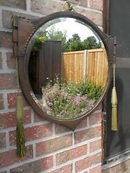 Stunningly Handcrafted Copper Arts And Crafts Wall Mirror Early 20th Century