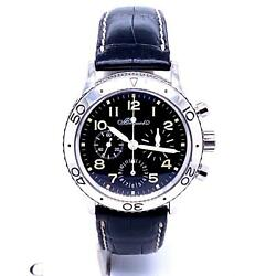 Breguet Type XX Aeronavale 39mm Stainless Steel Black Chrono Ref. 3800ST929W6