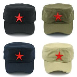 Classic Army Military Castro Red Star Vintage Hat Cadet Military Patrol Cap