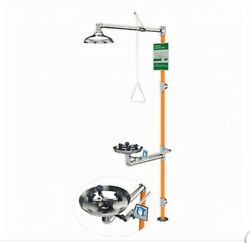 Watersaver Stainless Safety Shower System With Eyewash