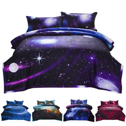 Galaxy Comforter Set Reversible Quilt Sky Outer Space Bedding Twin Full Queen