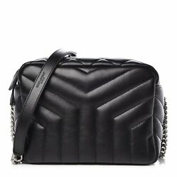 Saint Laurent YSL Loulou Black Quilted Matelasse Leather Bowling Bag 574102 $1,276.80