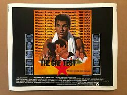 Muhammad Ali The Greatest Half Sheet Movie Poster 1977 Columbia Pictures Boxing
