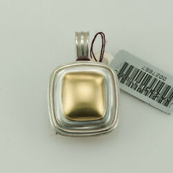 Slane And Slane Column Link Pendant 18k Yellow Gold And Sterling Silver