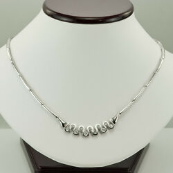 Fabulous Necklace - 1.50 Ct. Diamonds In 14k Solid White Gold, Size 17