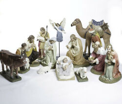 Catholic Church Nativity Set In Color 24 4 Tabernacle, Chalice, Monstrance