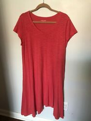 Eileen Fisher Coral T Shirt Dress - Size L
