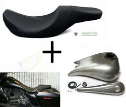 6.6 Gal Stretched Fuel Gas Tank 2-up Seat For 08-17 Harley Touring Road King