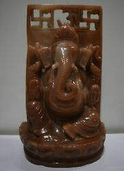 10 Lord Ganesha Statue Of Red Jasper Gemstone Hand Carved Statues And Figures
