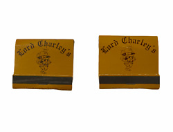 Lot Of 2 Vintage Lord Charley's Matchbooks - New Old Stock