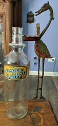 Ginger Mint Julep Emerson's Label Under Glass Back Bar Syrup Bottle Early 1900s