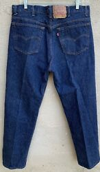 Vintage Leviandrsquos Button Fly 501 Jeans 501xx Made In Usa 40 X 34 Measure 37 X 31