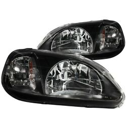 121070 Anzo Headlight Lamp Driver And Passenger Side New Lh Rh For Honda Civic