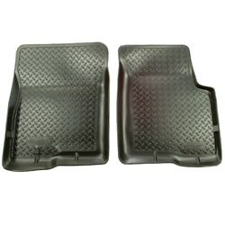 31901 Husky Liners Floor Mats Front New Black For Chevy Coupe Sedan Impala Buick