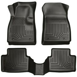 98271 Husky Liners Floor Mats Front New Black For Chevy Buick Encore Trax 15-18