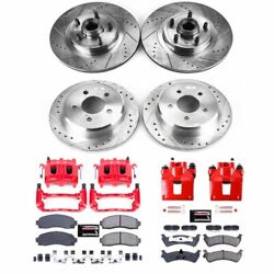 Kc4356 Powerstop Brake Disc And Caliper Kits 4-wheel Set Front And Rear For Ford