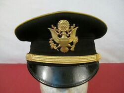 Wwi Us Army M1912 Officer's Visor Dress Cap Or Hat - Sz 7 - Excellent Condition