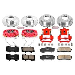 Kc2325 Powerstop 4-wheel Set Brake Disc And Caliper Kits Front And Rear For Toyota