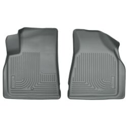 18212 Husky Liners Floor Mats Front New Gray For Chevy Gmc Acadia Traverse Buick