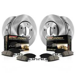 Koe6375 Powerstop Brake Disc And Pad Kits 4-wheel Set Front And Rear New For Ford
